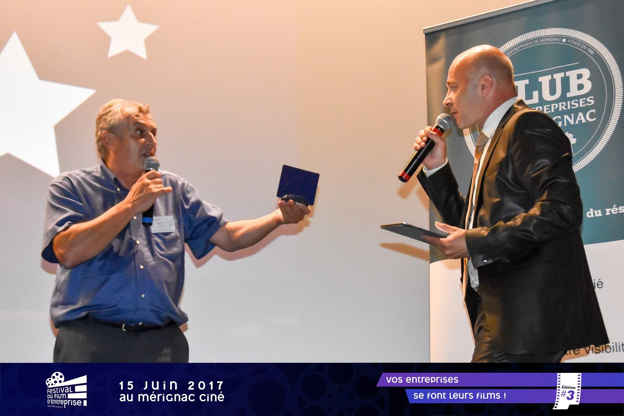 Marc-trophée Trophées du Festival du Film d'entreprise de Mérignac
