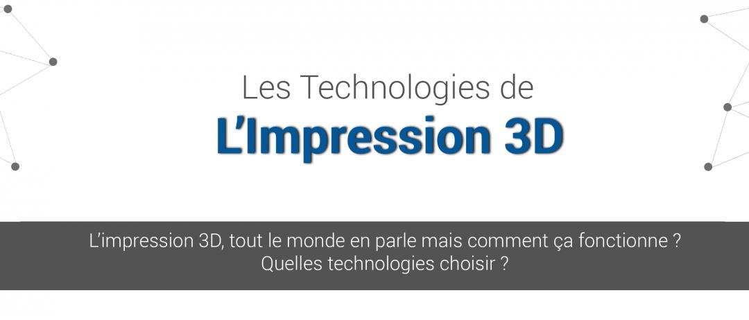 Infographie : les différentes technologies d'impression 3D