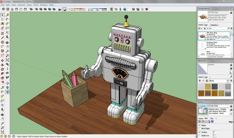 sketshup-768x455 Quels logiciels de conception de conception 3D adopter pour l'impression 3D ?