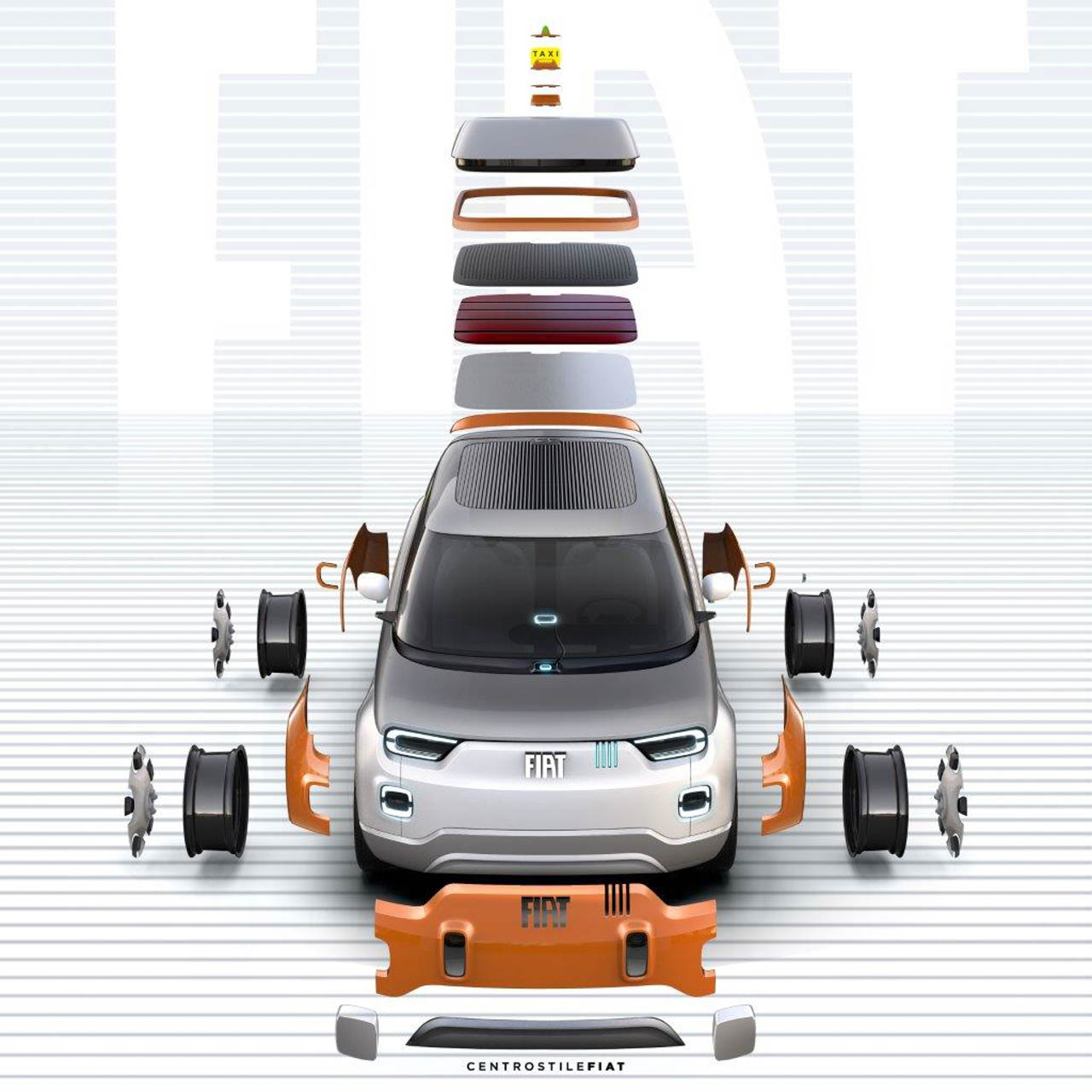 fiat-concept-centoventi-6 L'actualité automobile et impression 3D de ce début d'année !